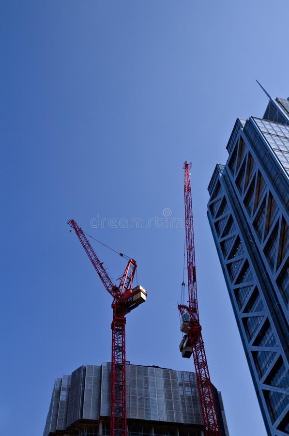 泛太平洋旅馆摩天大楼建设中在伦敦 免版税库存照片
