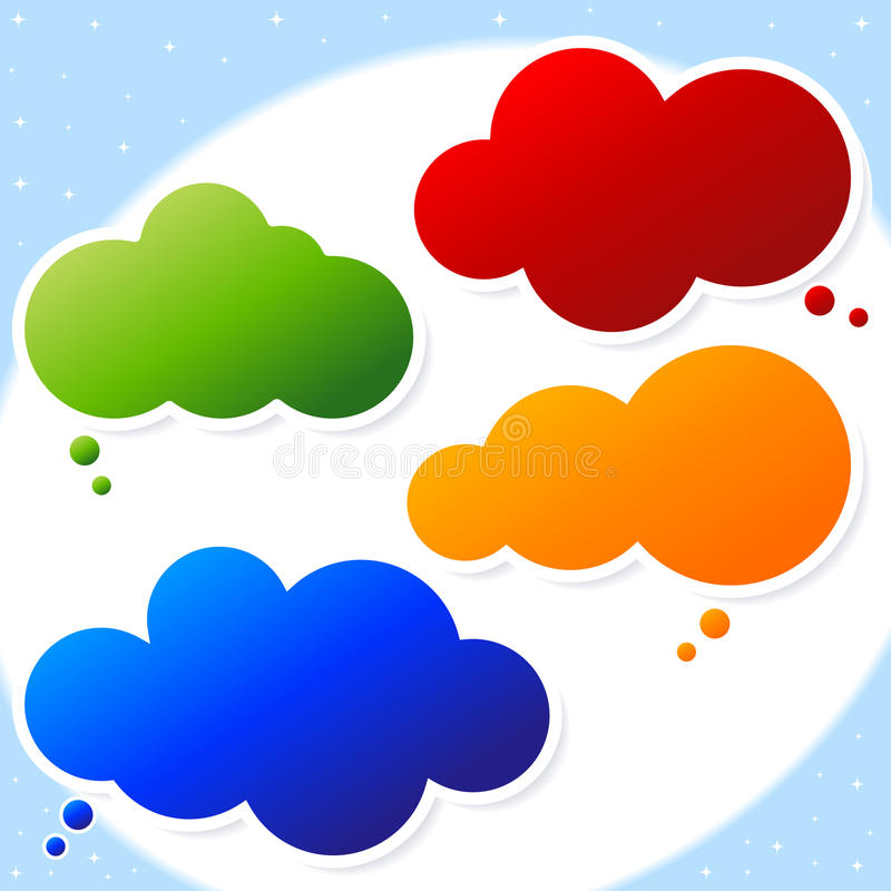 泡影云彩演讲 向量例证