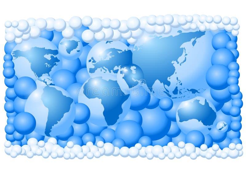 泡影做映射世界 向量例证