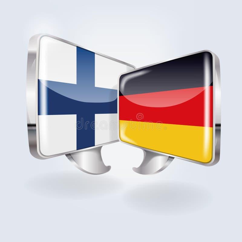 泡影和讲话在芬兰语和丹麦语 库存例证