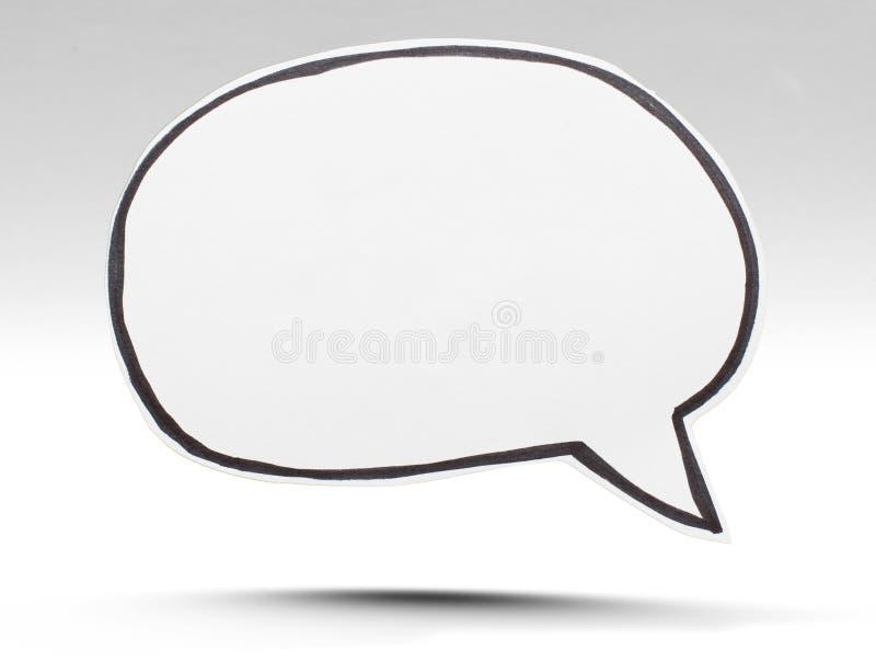 泡影图象人员演讲联系的向量 免版税库存图片