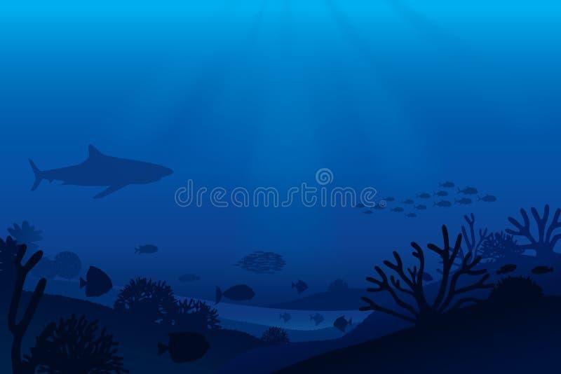 泡影复制鱼例证生活海运海草空间文本向量 库存例证