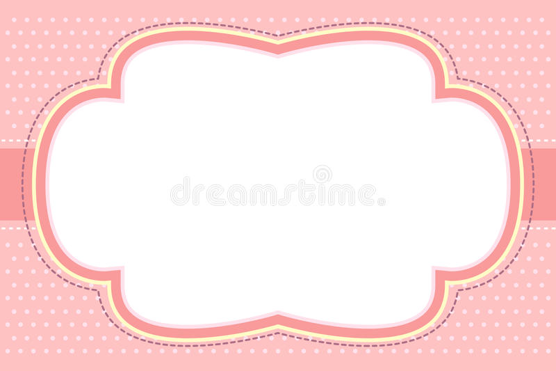 泡影框架华丽粉红色 皇族释放例证