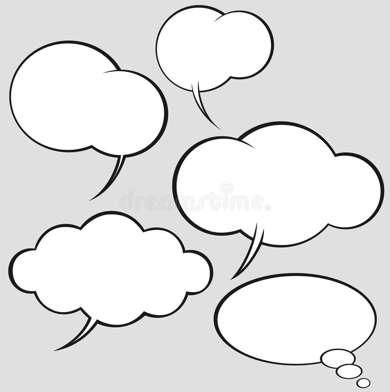 泡影漫画设置了演讲样式向量 库存例证