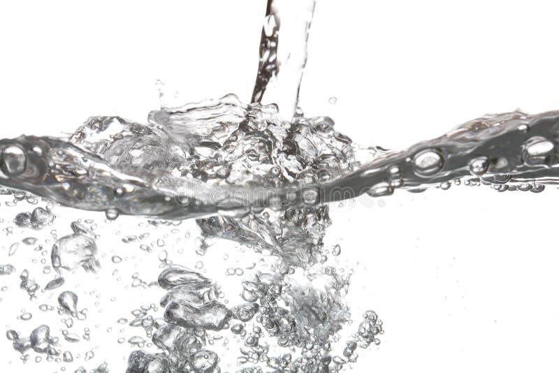 泡影空气倾吐水隔绝有白色背景 图库摄影