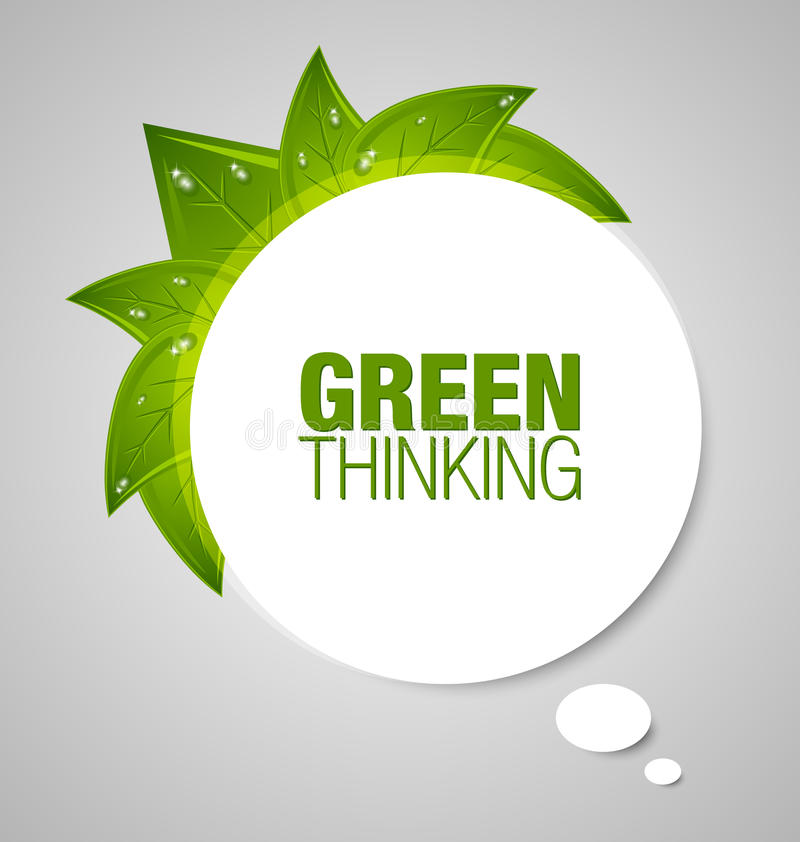 泡影绿色认为 向量例证