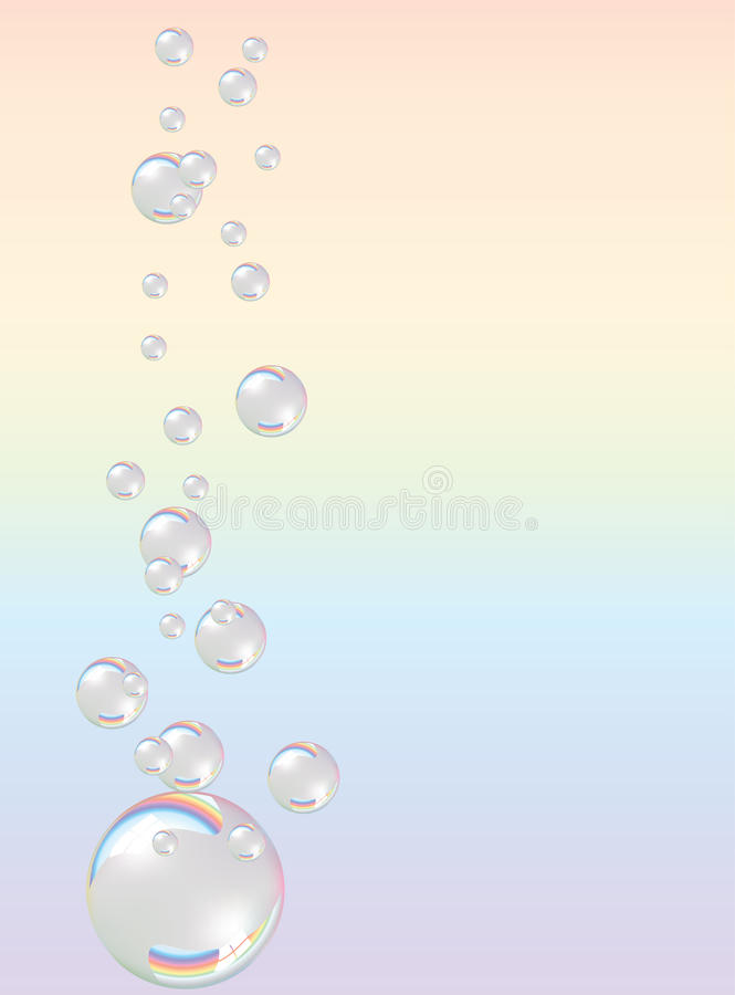 泡影肥皂 向量例证