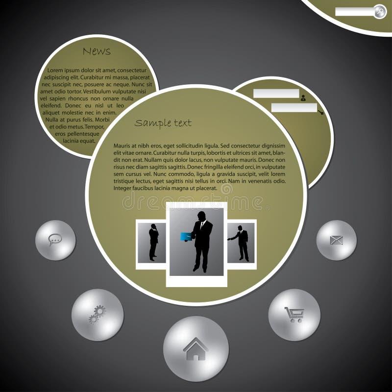 泡影设计模板网站 皇族释放例证