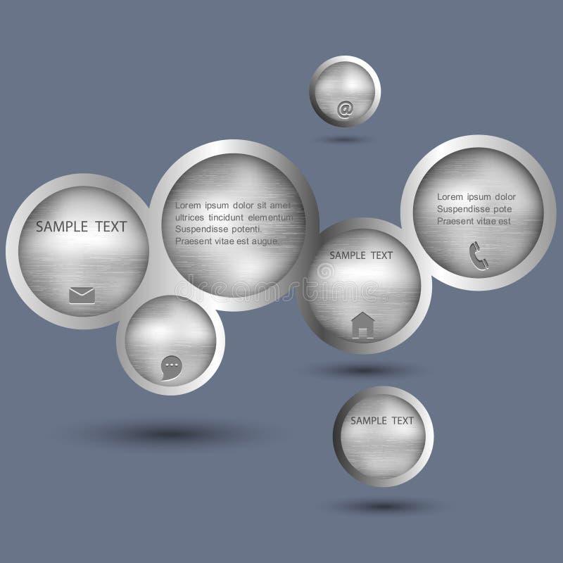 泡影设计金属样式万维网 库存例证