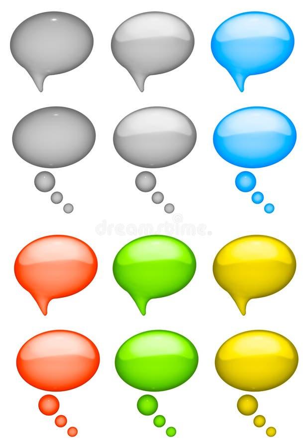 泡影谈话 向量例证