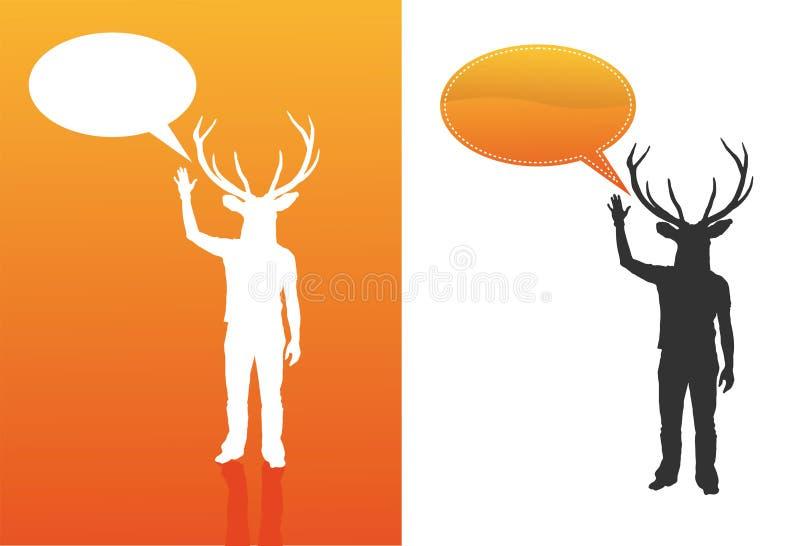 泡影鹿人 向量例证