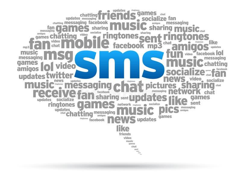 泡影sms演讲 向量例证