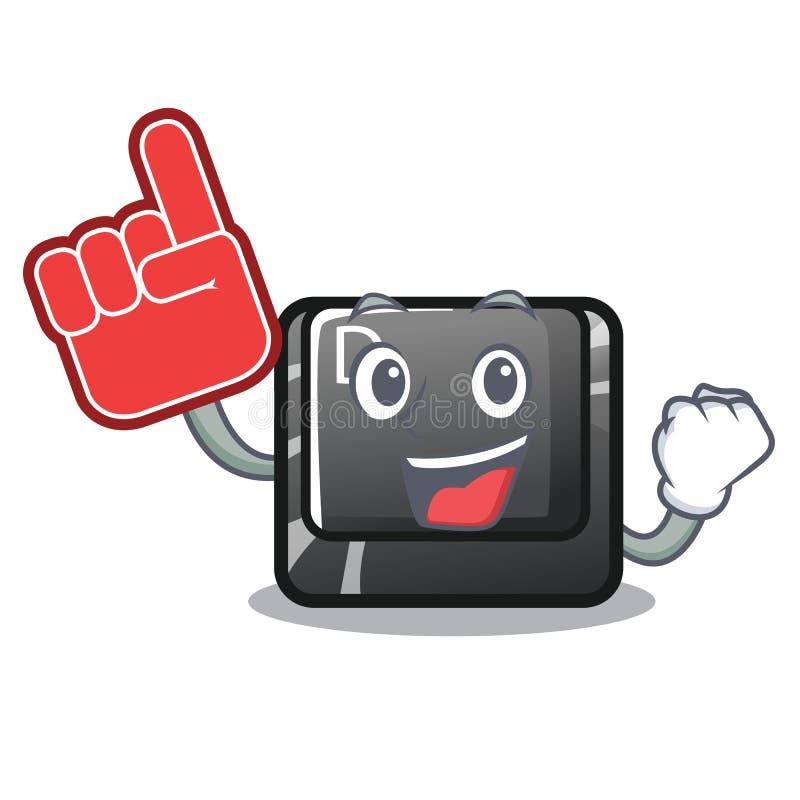 泡沫在动画片形状的手指按钮D 库存例证