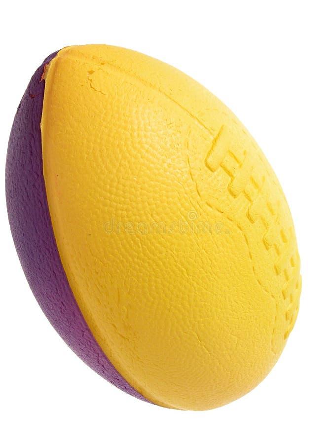 泡沫橄榄球玩具 免版税库存图片