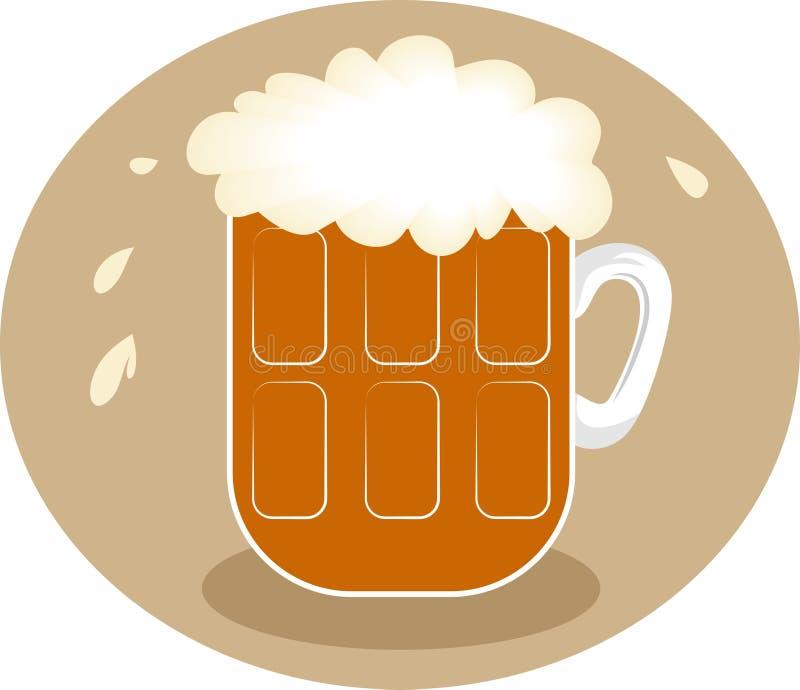 泡沫的啤酒 皇族释放例证