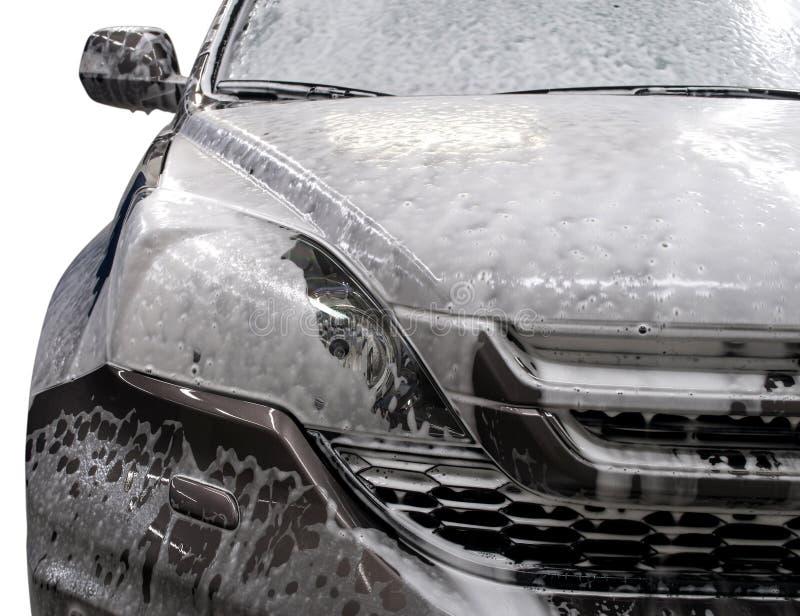 泡沫盖的现代汽车 图库摄影