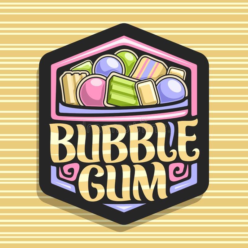 泡泡糖的传染媒介商标 向量例证