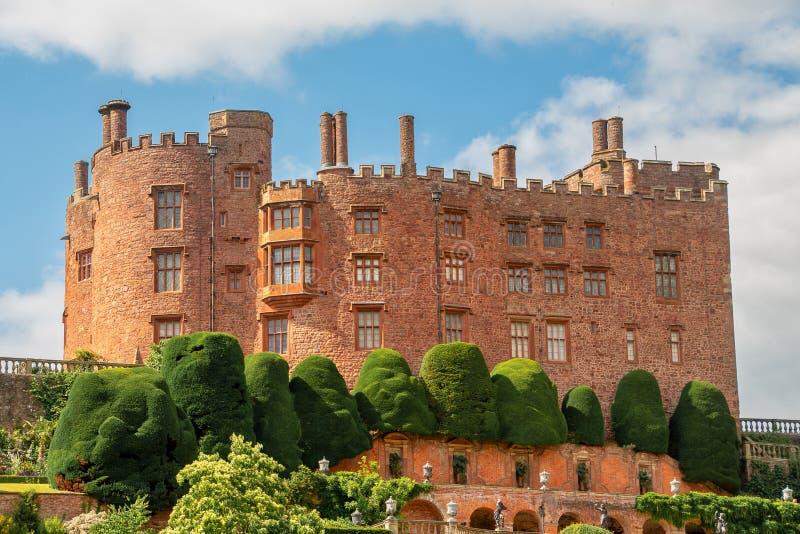 波伊斯城堡看法  免版税库存图片