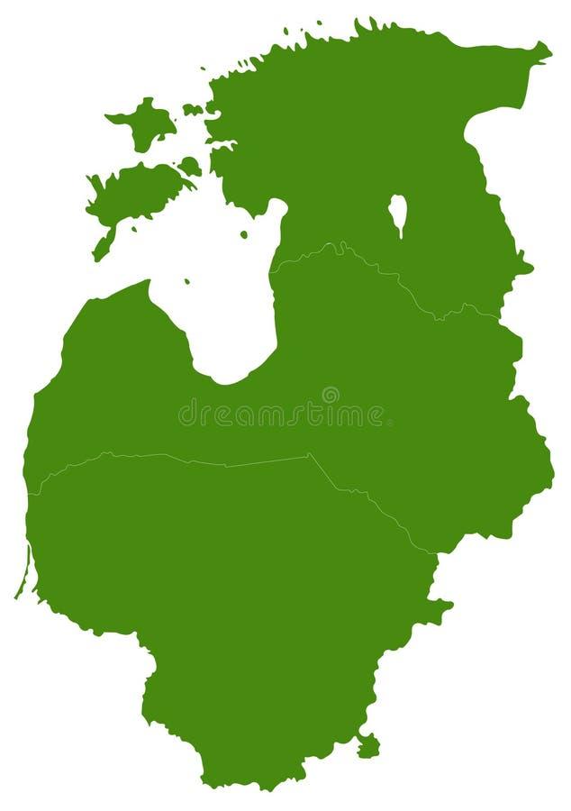 波儿地克的国家映射-波罗的海国家、波儿地克的共和国、波儿地克的国家或者完全波罗的海 库存例证