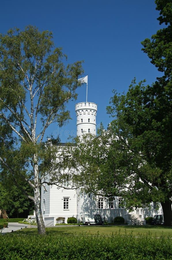 波儿地克的城堡heiligendamm hohenzollern海运 库存图片
