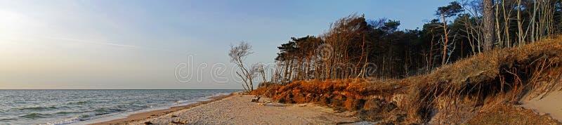 波儿地克的海岸全景海运 免版税库存照片
