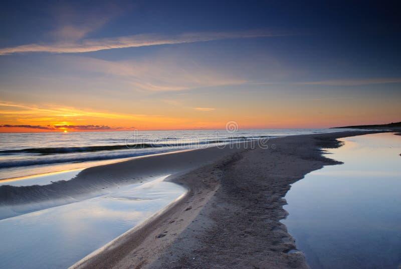 波儿地克的海滨 图库摄影