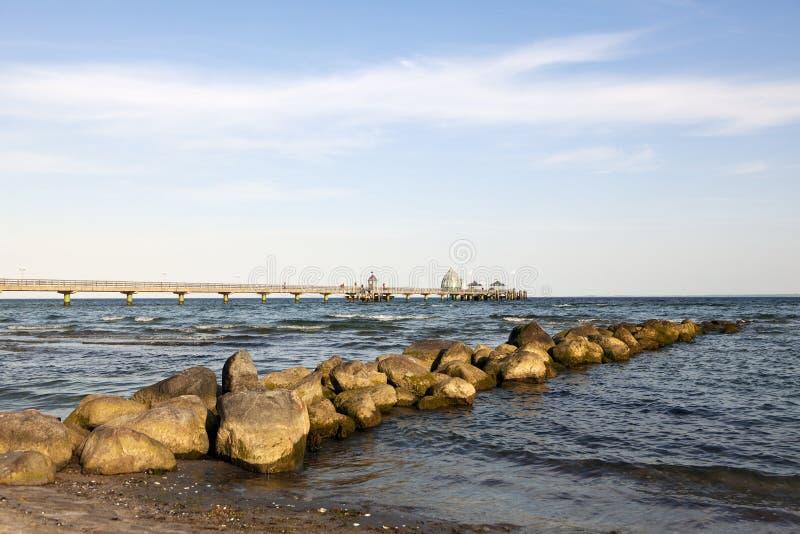 波儿地克的gromitz码头海运 库存照片