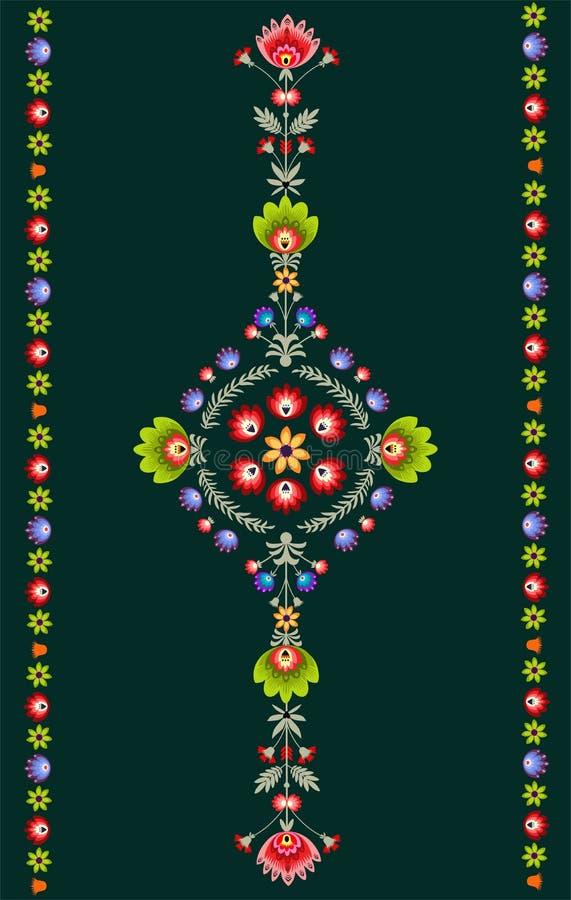 波兰刺绣样式 皇族释放例证