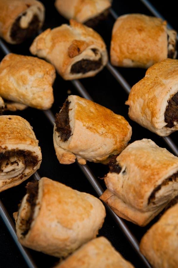 波兰圣诞节饼用蘑菇和圆白菜 库存照片