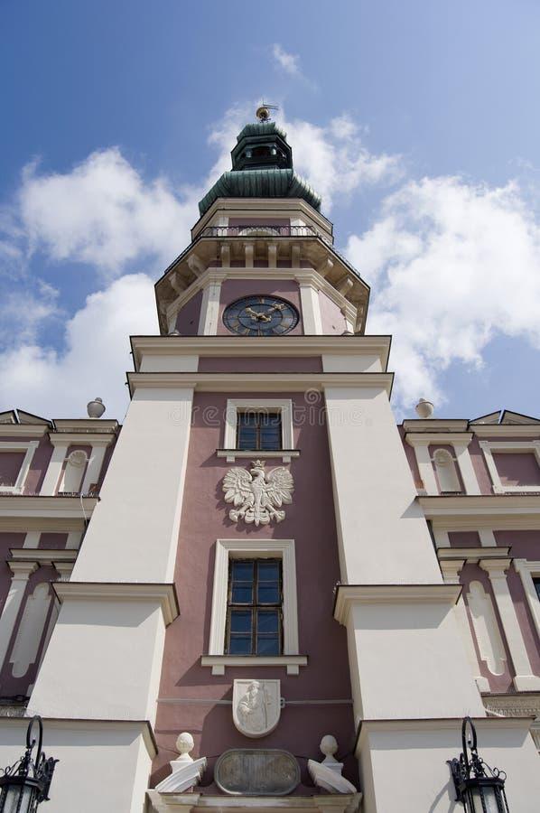波兰城镇zamosc 库存图片