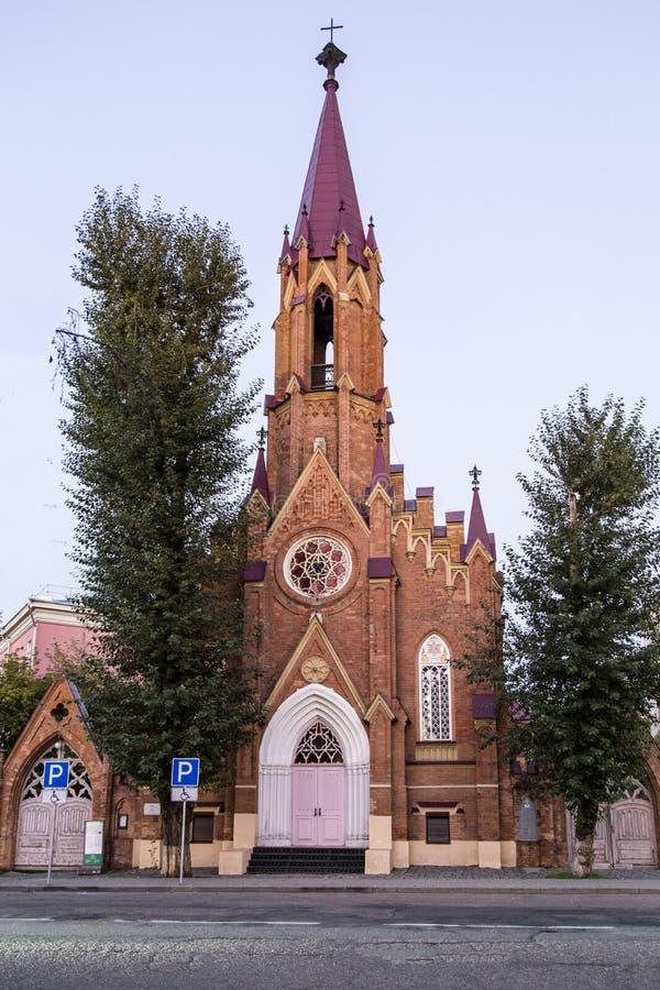 波兰大教堂在伊尔库次克,俄联盟 免版税库存照片