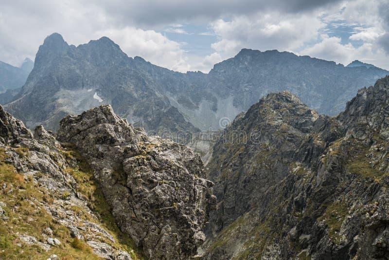 波兰太脱拉山山风景  免版税库存图片