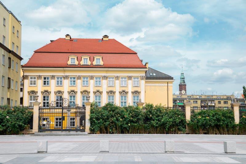 波兰弗罗茨瓦夫的巴洛克风格皇宫建筑 库存图片