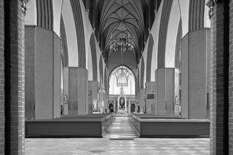 波兰教会内部。 库存图片