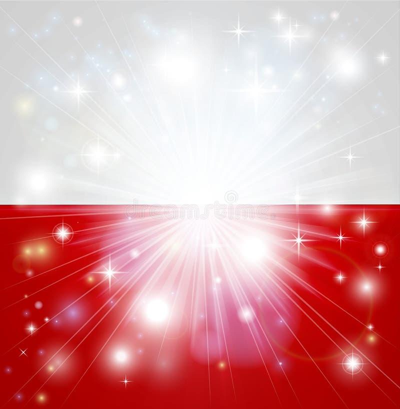 波兰标志背景 向量例证