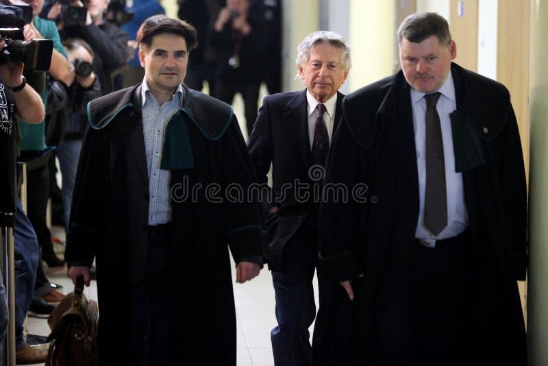 波兰电影导演罗曼・波兰斯基法庭上在克拉科夫 免版税图库摄影