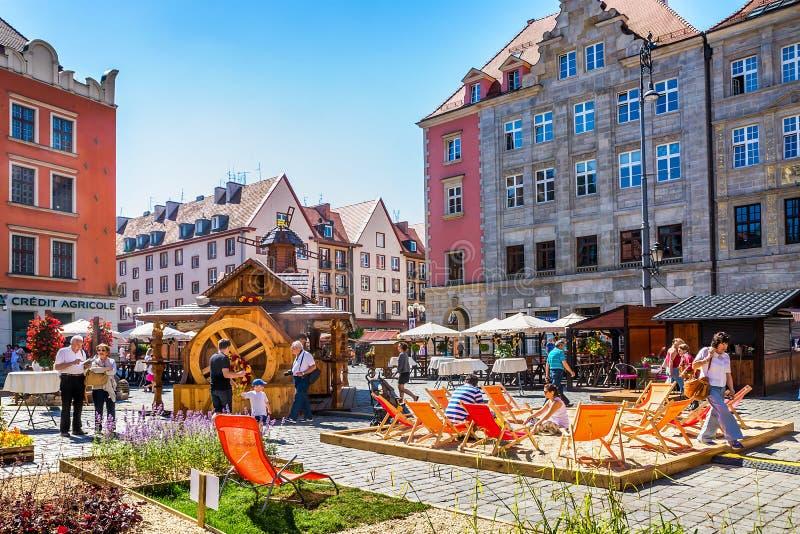 波兰的历史的中心 库存照片