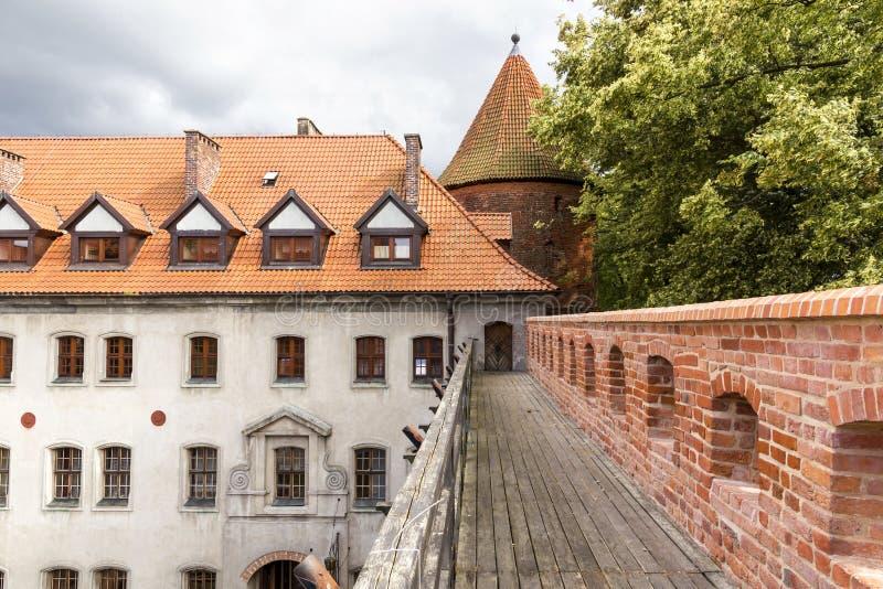 波兰的视域。 城堡Bytow。 库存图片
