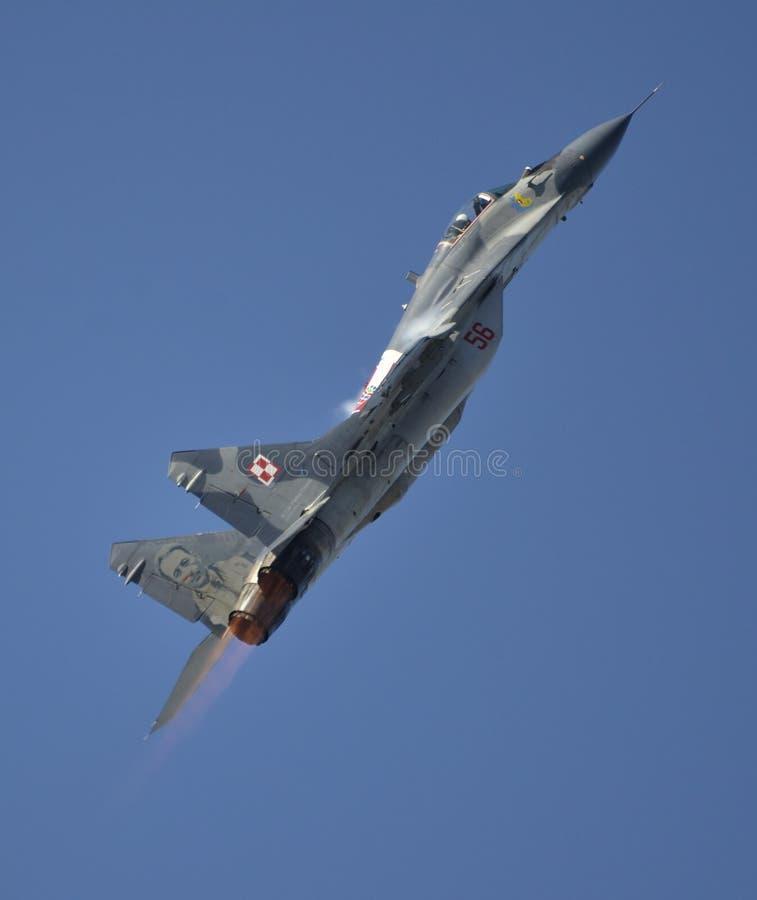波兰空军的米格-29 库存照片