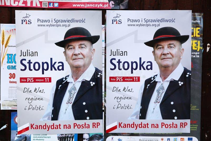 波兰竞选 库存照片