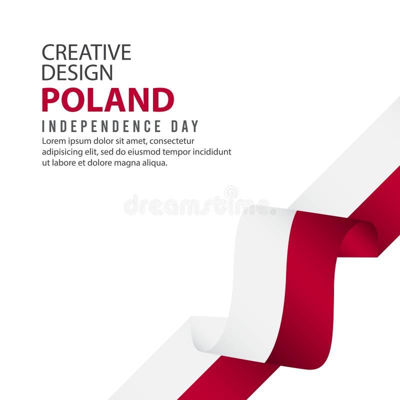 波兰美国独立日庆祝创造性的设计例证传染媒介模板 向量例证