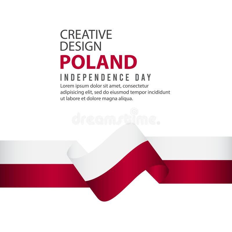 波兰美国独立日庆祝创造性的设计例证传染媒介模板 库存例证