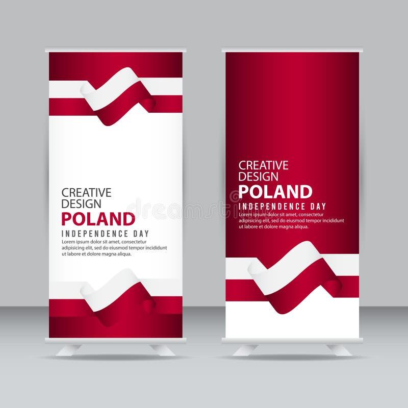 波兰美国独立日庆祝创造性的设计例证传染媒介模板 皇族释放例证