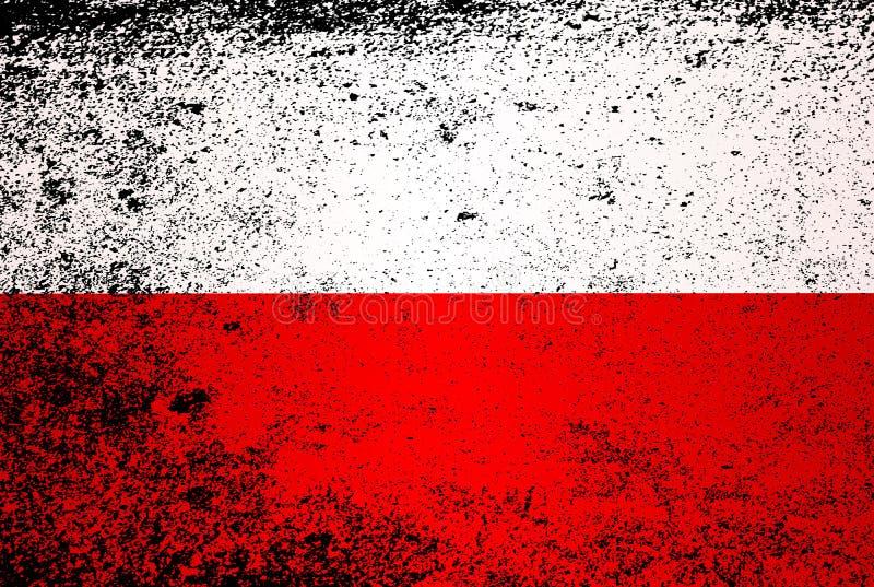 波兰难看的东西旗子  库存例证