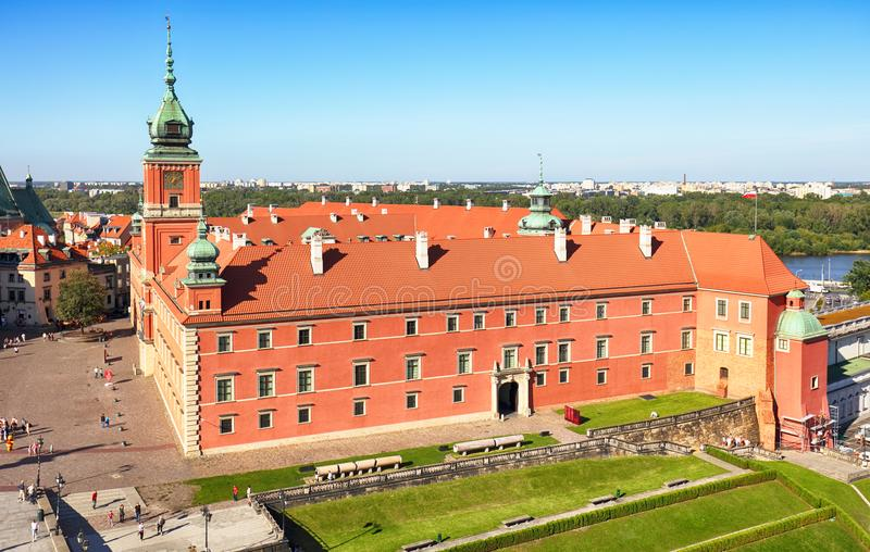 波兰,华沙市 库存图片