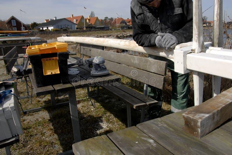 波兰WORKR在丹麦 免版税库存照片