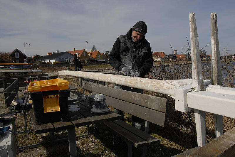 波兰WORKR在丹麦 库存图片
