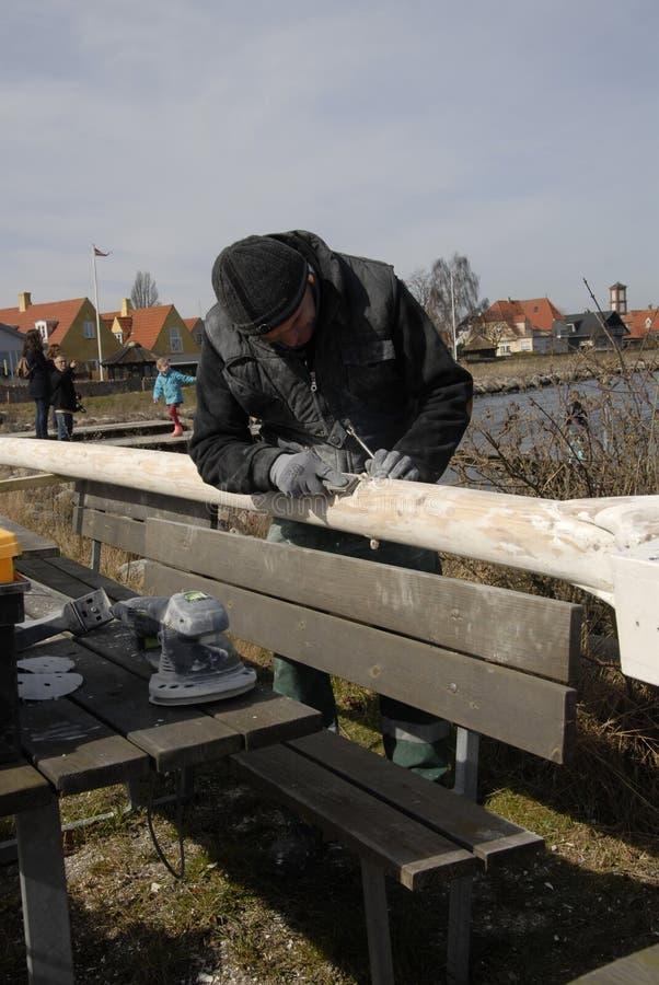 波兰WORKR在丹麦 免版税库存图片