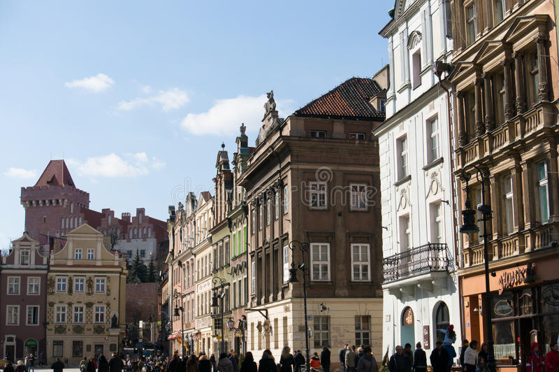 老市场在波兹南 免版税库存图片