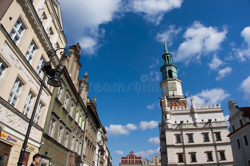 老市场在波兹南 免版税图库摄影